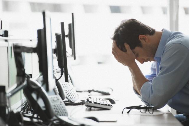 Mente cansada no trabalho