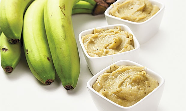 Banana verde pasta