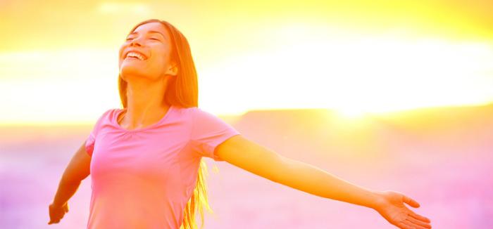 Banho de sol feliz