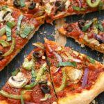 Receita de pizza low carb com farinha de amêndoas