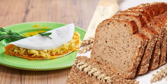 Tapioca ou pão integral