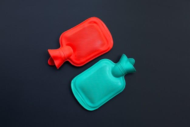 bolsas de água quente e gelo para tratamento de lesões