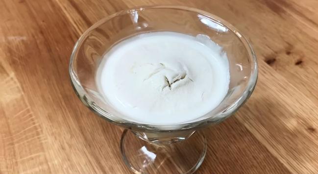 Sorvete de coco fit