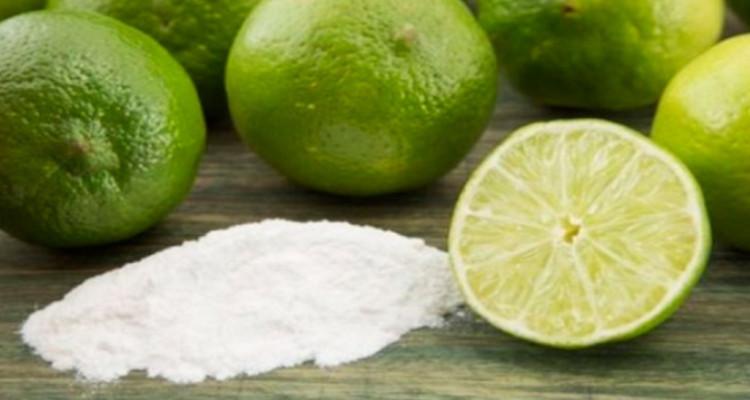 bicarbonato e limão