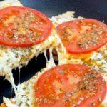Receita de pizza de frigideira light