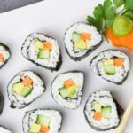 6 Receitas de sushi vegetariano