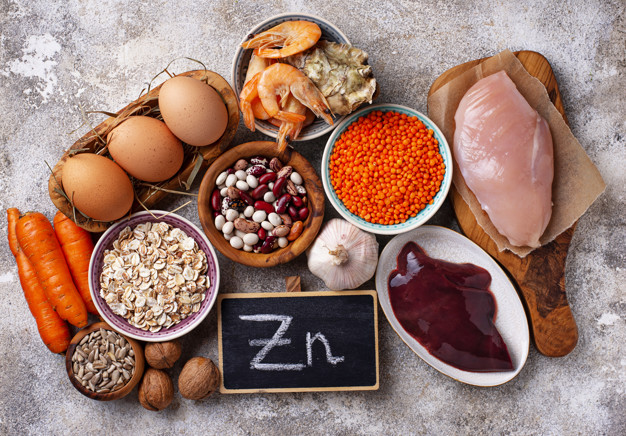 Alimentos saudáveis, fontes de zinco
